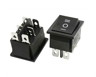 10A 250V DPDT ON-OFF-ON Rocker Switch
