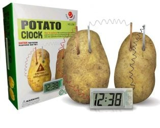Creative LED Alarm Clock by Potato Lemon Fruit Soft Drink