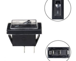 16A 250V AC SPST ON-OFF Dust-proof Rocker Switch