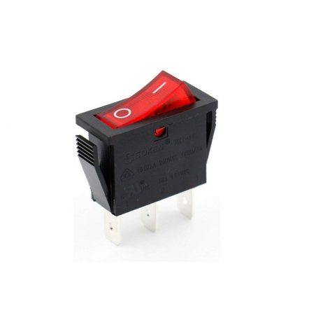 16A 250V SPDT ON-ON Rocker Switch with Light