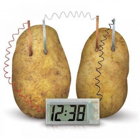 Creative LED Alarm Clock by Potato Lemon Fruit Soft Drink