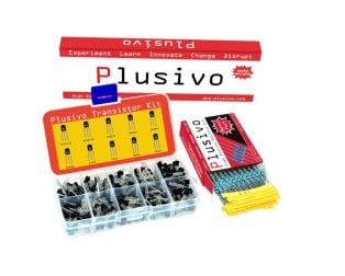 Plusivo BJT Transistors Assortment Kit with Bonus Resistor Pack