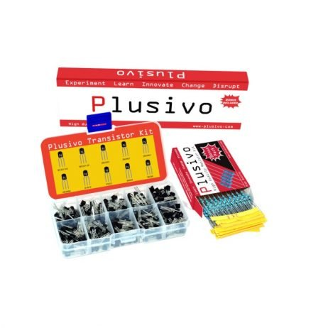 Plusivo BJT Transistors Assortment Kit with Bonus Resistor Pack