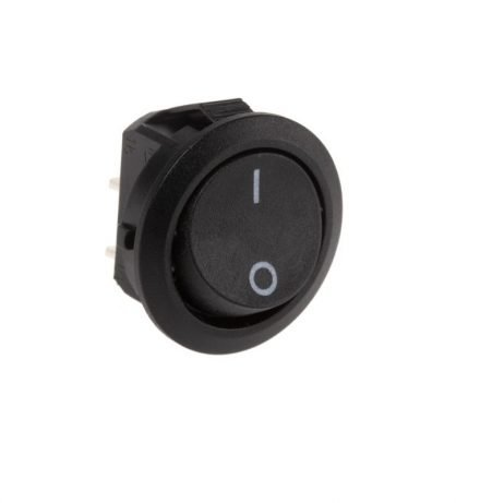 3A 250V AC SPST ON-OFF Round Rocker Switch