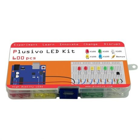 Plusivo 5mm LED Assortment Kit (500pcs) With Bonus PCB And 220 Ω Resistors(100pcs)