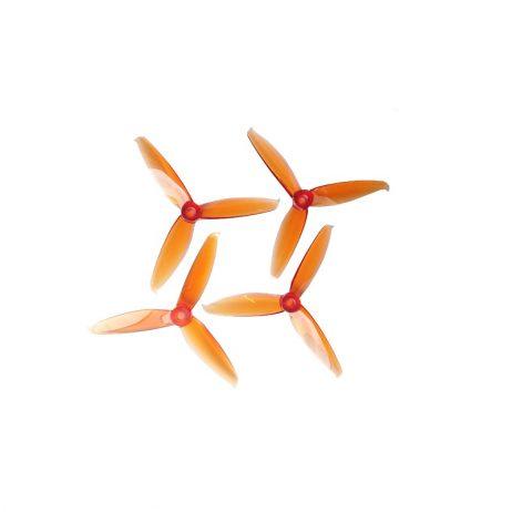 Orange HD 5152(51X5.2) Tri Blade Flash Propellers 2CW+2CCW 2 Pair - Orange