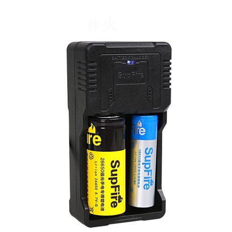 Suppfire Portable Double Groove Battery Charger