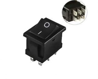 6A 250V AC DPDT ON-ON Rocker Switch -2pcs