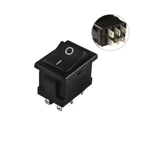 6A 250V AC DPDT ON-ON Rocker Switch -2pcs