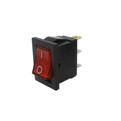 6A 250V SPDT ON-OFF Rocker Switch with Light