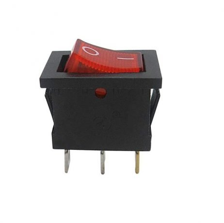 6A 250V SPDT ON-ON Rocker Switch with Light