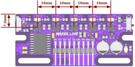 Maker Line: Simplifying Line Sensor For Beginner - Dimensions