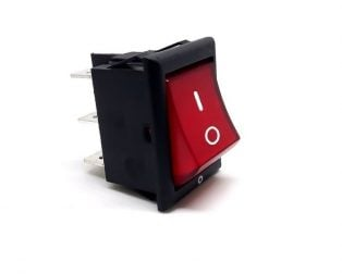 6A 250V AC DPDT ON-ON Rocker Switch with Light