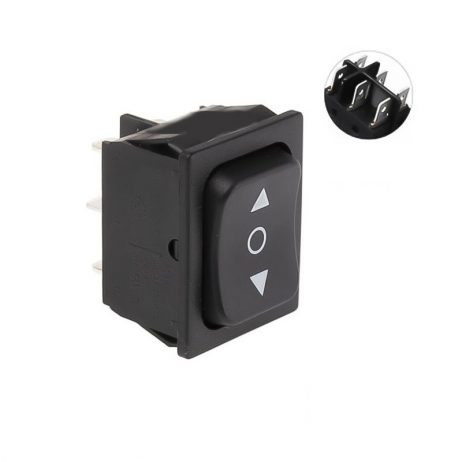 16A 250V AC DPDT ON-OFF-ON Rocker Switch