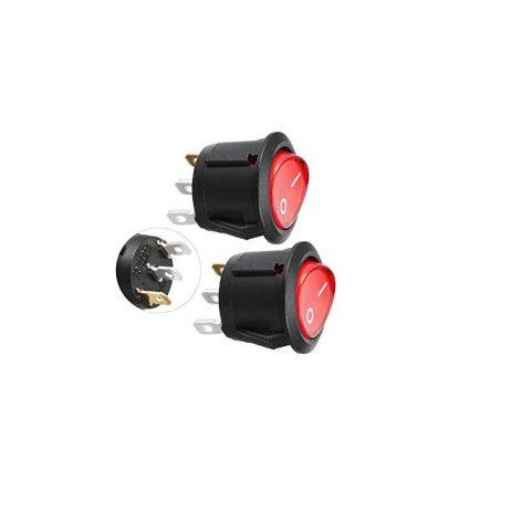 10A 250V SPDT ON-ON Rocker Switch with Light