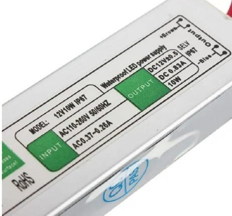 AC to DC 12V 10W Waterproof IP67 LED Driver Power Supply