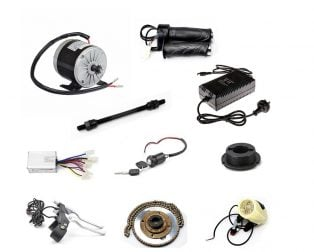 MY1016 24V 350W High Speed Motor Kit