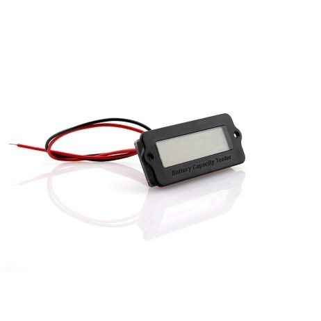 LY6W 12V to 24V Real-time Lithium Battery Power Monitor with White- Blue LCD