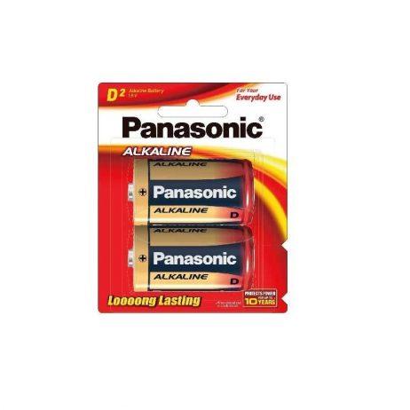 Panasonic Alkaline D-Size Battery - Pack of 2- LR-20T/2B