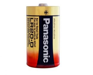 Panasonic Alkaline D-Size Battery - Pack of 2- LR-20T/2B
