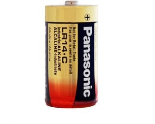 Panasonic Alkaline C-Size Battery - Pack of 2- LR-14T/2B