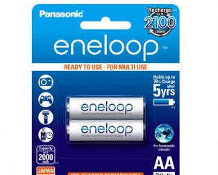 Panasonic eneloop AA BK-3MCCE/2BN Rechargeable Battery - Pack of 2