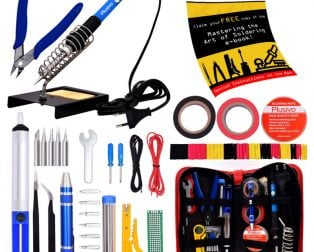 Plusivo Soldering Kit (EU Plug) With Diagonal Wire Cutter