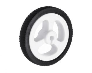 34mm Mini Car N20 Motor Wheel Rubber Small Wheel
