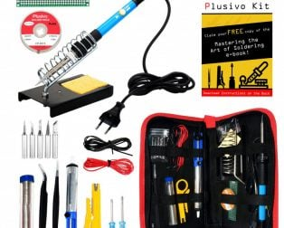 Plusivo Soldering Kit For Electronics (Plug Type: EU)