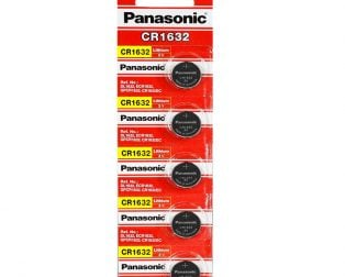 Panasonic CR1632 3V Lithium Coin Battery-5Pcs.