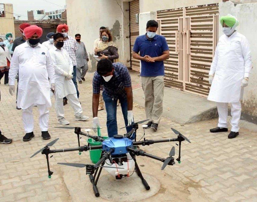 Drone sanitisation drive