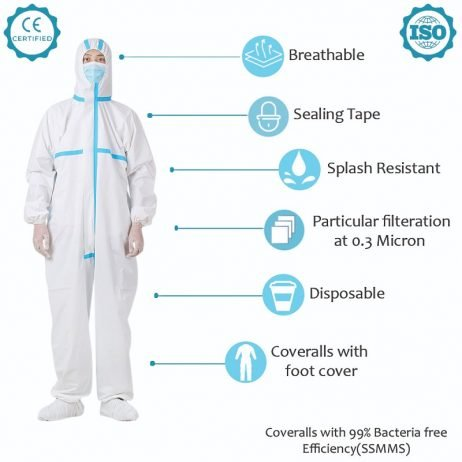 Coverall (Jacket) with Blue Tape