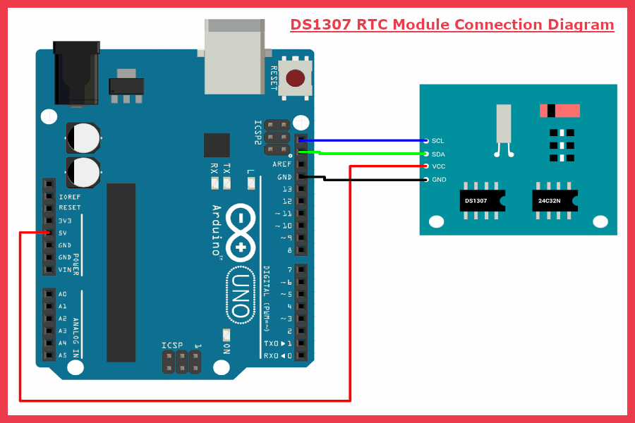 DS1307 RTC module With Arduino