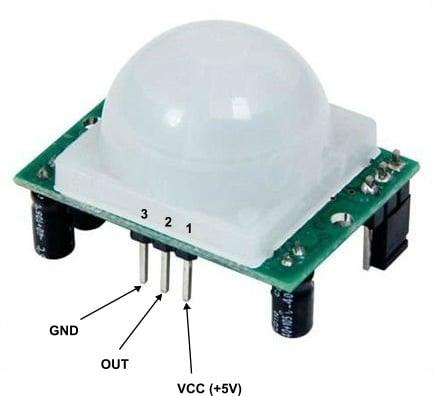 PIR sensor pin configuration