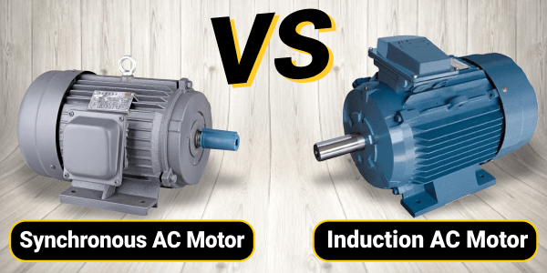 Difference between synchronous and Induction AC motor