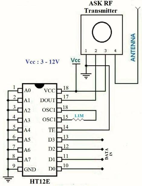 RF transmitter circuit diagram