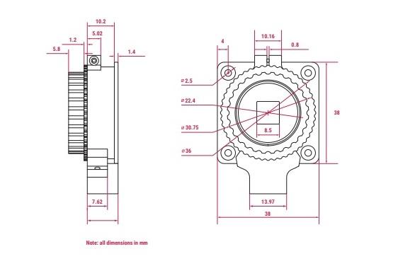 Raspberry Pi High Quality Camera Schematic