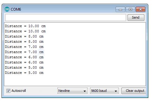 output-of-ultrasonic-sensor