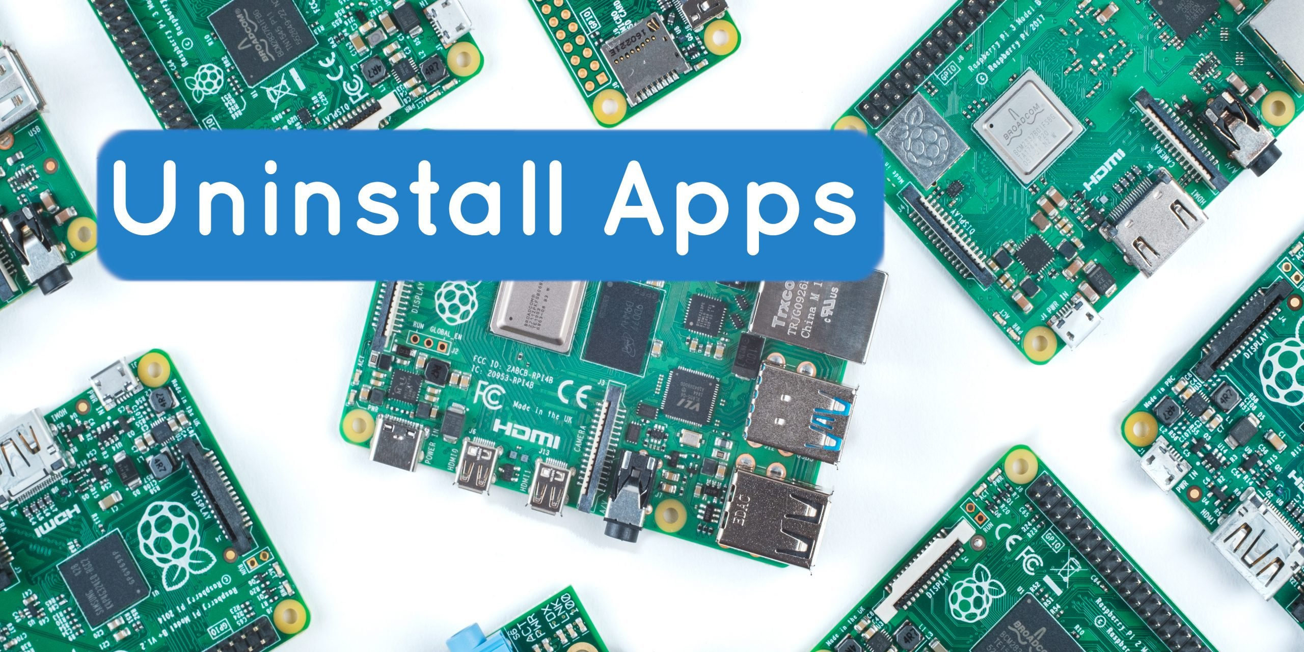 uninstall apps raspberry pi