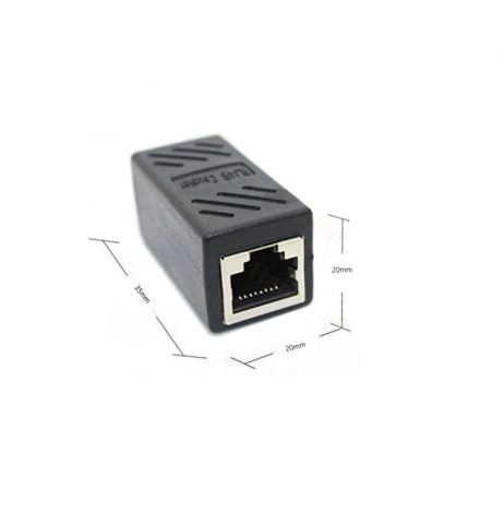 RJ45 Female-to-Female LAN Connector Ethernet Network Cable Extension Couple Joiner Adapter with Shield