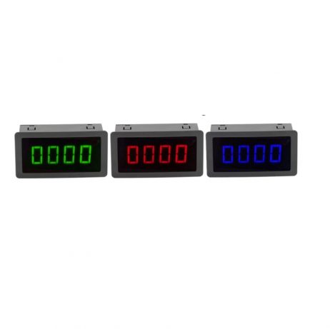 LED 4 digital blue green red measurement indicators tachometer+hall proximity switch sensor NPN