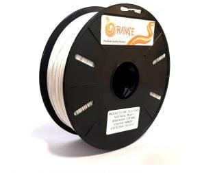 Orange PLA+ 1.75mm 3D Printing Filament 1kg-White
