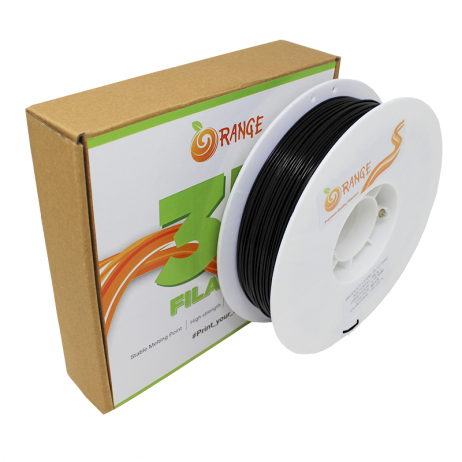 Orange ABS+ 3D Printing Filament-Black