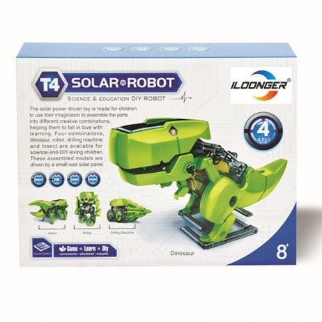 4 in 1 DIY Solar Powered Driven Dinosaur Robot Toys