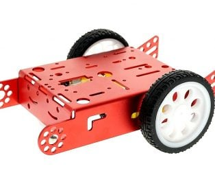 Red 2WD Aluminum Smart Robot Car Chassis Kit DIY