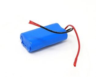 18650 Li-Ion 2500mAh 7.4v 2S1P Protected Battery Pack-3c