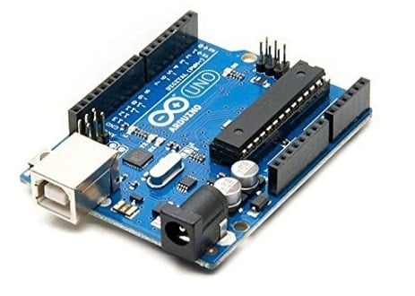 Arduino Uno R3 - the third, and latest, revision of the Arduino Uno.