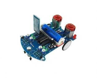 D2-6 Bluetooth Remote Control Intelligent Car 51 MCU DIY Kit