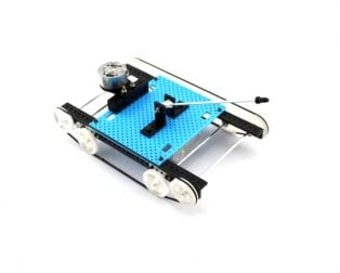 DIY Blue interesting Tank Toy Assembly Kit