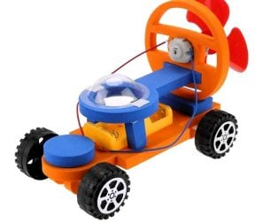 DIY Educational Early Learning Wind Colorful Car Toy